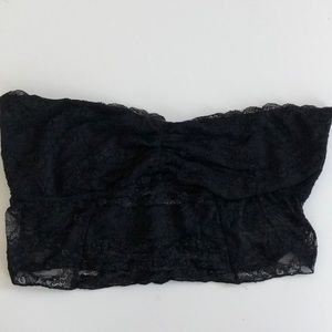 Free People Galloon Lace Black Bandeau Bra